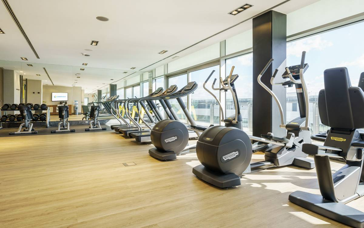 Fitness hotel ilunion atrium madrid